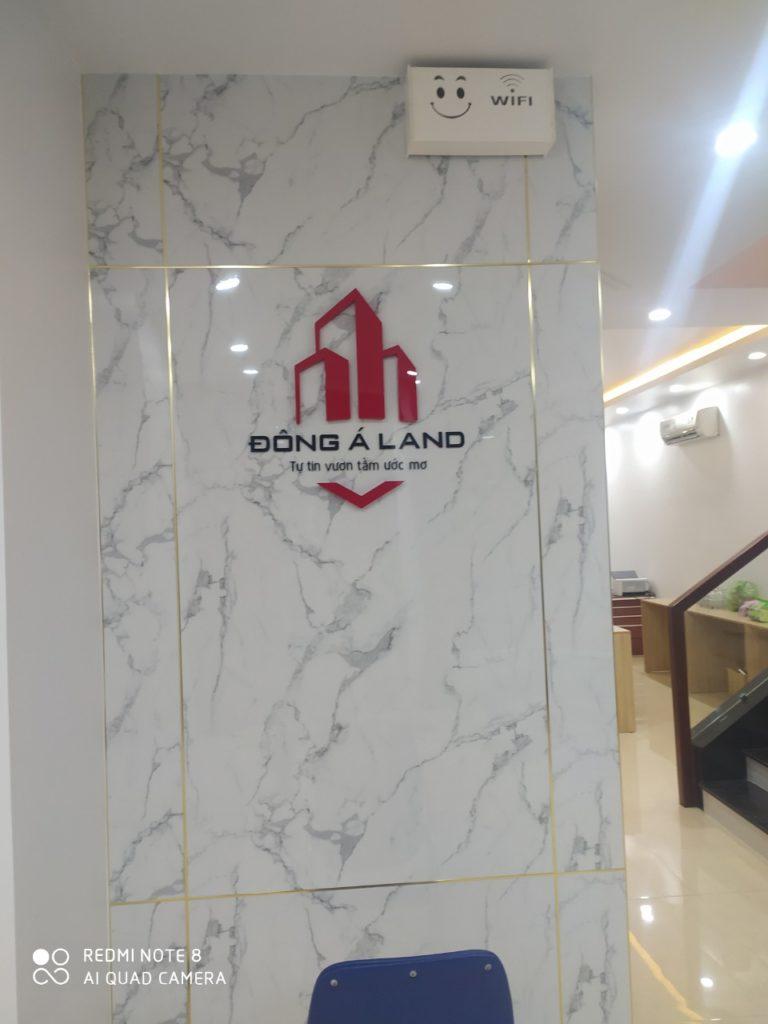 bảng backdrop quảng cáo logo công ty
